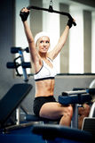 Pumping up muscles Stock Images