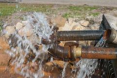 Pumping water royalty free stock image
