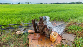 Pumping water. Into the fields Royalty Free Stock Photos