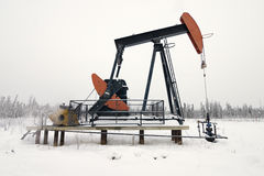 Pumpjack Stock Foto's
