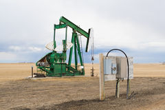 Pumpjack in Alberta, Canada Stock Image