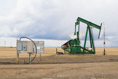 Pumpjack in Alberta, Canada Royalty Free Stock Photos