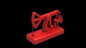 Pumpjack brinquedo Modelo 3d animado ilustração do vetor