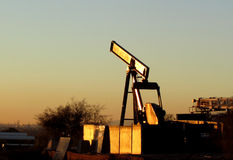 Pumpjack desmontado do óleo Fotografia de Stock