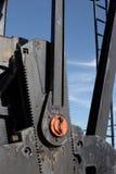 Pumpjack Detail. Closeup of pumpjack gears Royalty Free Stock Image