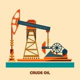 Pumpjack i działania Nafciane pompy i Wiertniczy takielunek, Nafciana pompa, przemysł naftowy Zdjęcie Royalty Free
