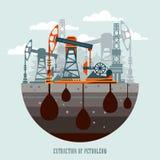 Pumpjack i działania Nafciane pompy i Wiertniczy takielunek, Nafciana pompa, przemysł naftowy Zdjęcia Royalty Free