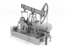 Pumpjack isolated Royalty Free Stock Images