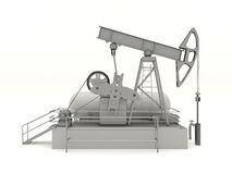 Pumpjack isolated Stock Photography