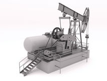 Pumpjack isolated Royalty Free Stock Image