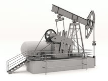 Pumpjack isolated Royalty Free Stock Photos