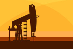 Pumpjack Oil Rig Crane Platform Royalty Free Stock Photography