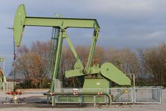 Pumpjack in the Netherlands, state Drenthe royalty free stock images