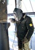 pumpjack russia västra siberia för extraktionoljeoilwell Royaltyfri Foto