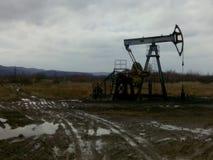 pumpjack russia västra siberia för extraktionoljeoilwell Arkivfoto