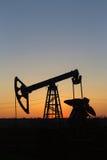 Pumpjack-silhouet Royalty-vrije Stock Afbeelding