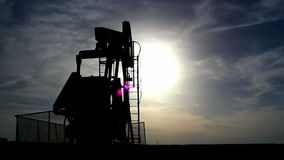 Pumpjack silhouette Royalty Free Stock Images