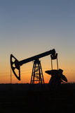 Pumpjack-silhouette Royalty Free Stock Image