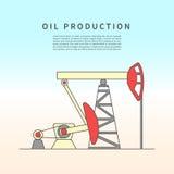 Pumpjack. Vector illustration Royalty Free Stock Image
