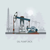 Pumpjack and Working Oil Pumps xOil Pump, Petroleum Industry Stock Photo