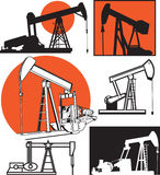 Pumpjacks Royalty Free Stock Photography