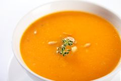 Pumpki soup Stock Photos