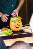 Pumpkin& x27 κεφάλι του s Στοκ Εικόνες