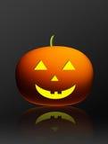 Pumpkin. Orange and yellow pumpkin over gray background Stock Image