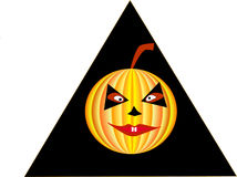 Pumpkin. For a holiday halloween symbol Stock Image