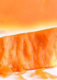 Pumpkin. A macro portrait of Pumpkin with Orange background Royalty Free Stock Photography