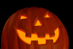 Pumpkin. Halloween - Carved Pumpkin Face with Light Royalty Free Stock Image