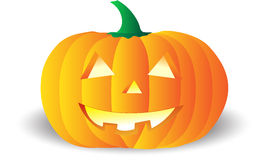 Pumpkin. Vector pumpkin, fully editable, it can be scaled or resized at any dimension Stock Image