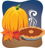 Pumpkin. Fall Harvest - Pie and Pumpkin Royalty Free Stock Photo