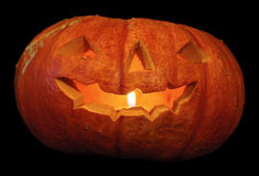 Pumpkin. For halloween with light inside Royalty Free Stock Photography
