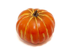 Pumpkin. A pumpkin isolated on white background royalty free stock photos