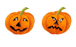 Pumpkin. Two pumpkins for Halloween holiday Royalty Free Stock Photos