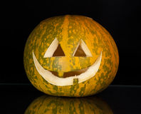 Pumpkin. Beautiful pumpkin for halloween on a black background Royalty Free Stock Photography