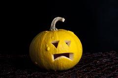Pumpkin. Beautiful pumpkin for halloween on a black background Stock Photo