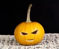 Pumpkin. Beautiful pumpkin for halloween on a black background Stock Image