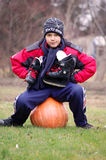 On the pumpkin Stock Images