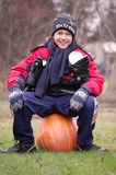 On the pumpkin Royalty Free Stock Images