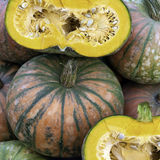 Pumpkin. For sale at a market Royalty Free Stock Image