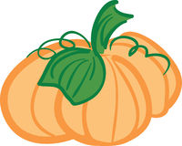 Pumpkin. A simple illustration of a pumpkin Stock Illustration