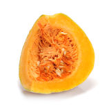 Pumpkin. Piece of pumpkin on white background Stock Images