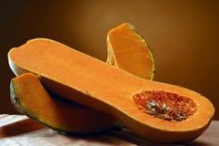 Pumpkin. Pair of pumpkin slices Stock Images