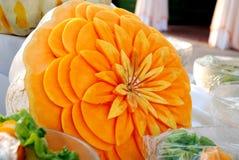 Pumpkin.. A decorative big pumpkins in a restaurant Royalty Free Stock Photography