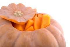 Pumpkin. Orange pumpkin isolated on white Royalty Free Stock Images