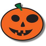 Pumpkin. An illustration of a round pumpkin icon for Halloween, isolated on a white background Stock Image