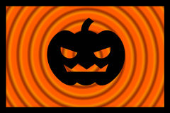 Pumpkin. Black pumpkin on the orange background Royalty Free Stock Photography