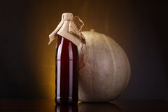 Pumpkin ale bottle Royalty Free Stock Images